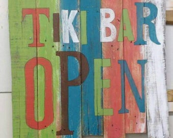 Custom pallet Tiki Bar sign