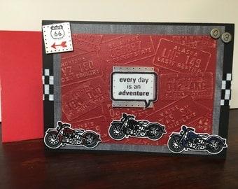 Motorcycle Adventure birthday card