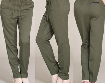 Joggers with elastic waistband