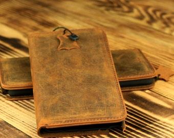 Samsung Galaxy Note 5 Wallet Case - Handmade Genuine Leather