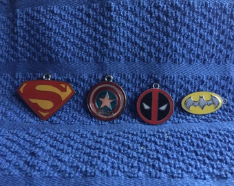 Superhero charms