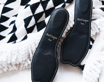 Luxury Comfort Open-Toe Insoles for High Heels, Handmade in France
