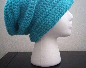 Adult sized crochet slouch hat, crochet beanie, crochet hat, crochet cap