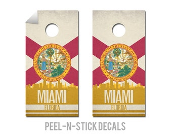 Miami State Flag Skyline Decals