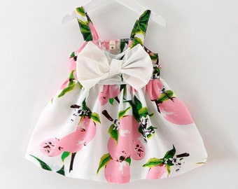 Pink Lemonade Dress with Big Bow on Front