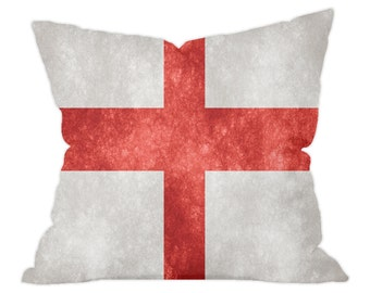 St George Cross Grunge Style English Flag Cushion 40x40cm