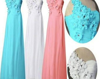 Beautiful wedding bridesmaid dress 3 colors