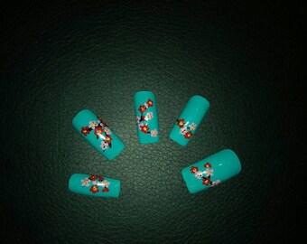 Nail art cherry blossom