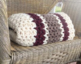 CUSTOM Chunky Crochet Blanket