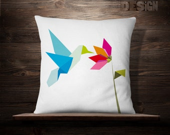 Hummingbird Pillow | Hummingbird | Hummingbird Throw Pillow | Hummingbird Pillow Cover | Throw Pillow | Hummingbird Cushion | Cushion