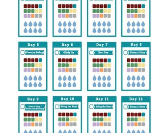 Country Heat DELUXE Printable Planner Stickers for 1200-1499 Calorie Range - Fits MAMBI Happy Planner