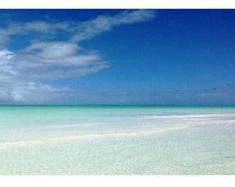 Beach photography Canvas wrap Wall decor Tropical decor Ocean White sandy beach Bahamas Nautical theme