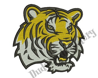 LSU Tigers  Embroidery Designs 7 Sizes Football Logo Embroidery Design Instant Download 8 Formats machine embroidery pattern
