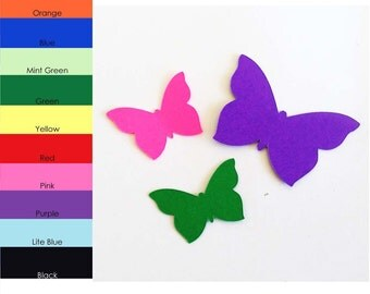 25 Pack - Butterfly Paper Shapes, Butterfly Paper Tags, Butterfly Cut Outs, Paper Butterflys