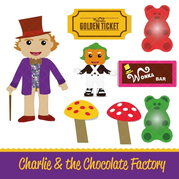 Charlie & the Chocolate Factory Clipart Pack