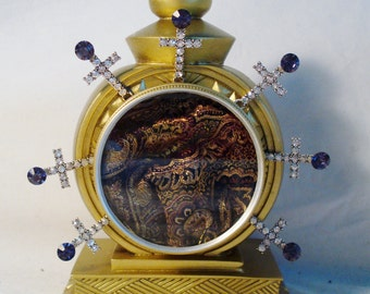 Handcrafted 18 KT Gold Painted Reliquary Display