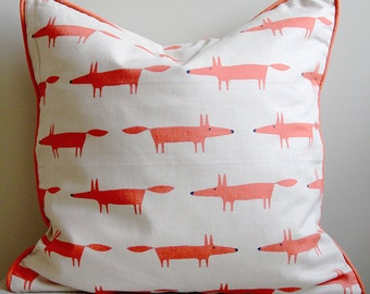 Cushion cover 100% cotton, including upholstery in feather cushion