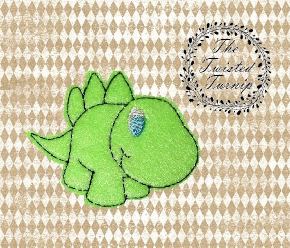 Cute 3 Inch Dinosaur Felt Feltie Embroidery Design Embroidery Designs Instant Download 5x7 Hoop by The Twisted Turnip