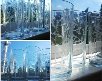 The Forest - Etched Hiball Tumbler Glass Set