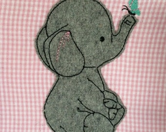 ELE & Butterfly Doodle embroidery file