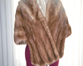 Vintage Taupe-Colored Mink Stole