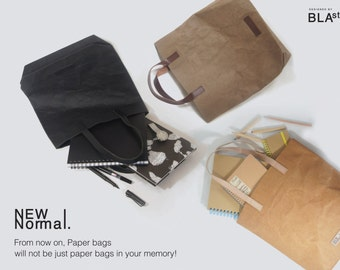 Unique Eco tote bag : Paper-Like But Washable and suit for heavy load! --FREE SHIPPING by DHL Express--