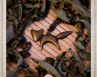 FOX necklace bronze pendant COP004