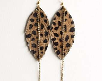leopard leather dusters