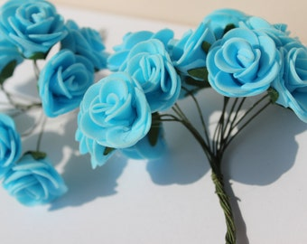 Decorative flowers in LaTeX, blue flowers for hobbies and creativity