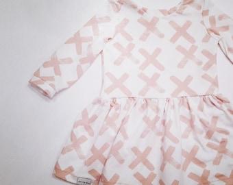 Pink Brushstrokes Dress
