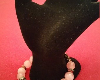 Pink Cats Eye Fitted Bracelet