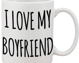 I love my boyfriend mug romantic gift