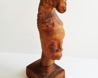 Miniature African Wooden Carving - Hand Carved - Bohemian Decor - African Art - African Statue