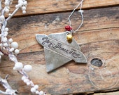 reserved -- please do not buy if you are not <Terri Davis>--Metal 'Joy Peace Love' Ornament With Beads II.