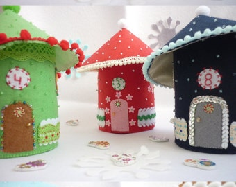 "Advent Calendar ""Fairy Houses"" ready to ship!!!"