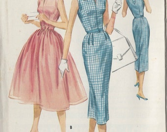"1957 Vintage Sewing Pattern B32"" DRESS (R58)  McCall's 4115"