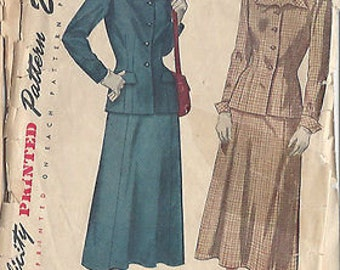 1948 Vintage Sewing Pattern B34 TWO-PIECE SUIT (23) Simplicity 2612