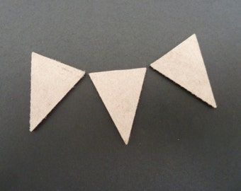 Small chipboard triangle bunting