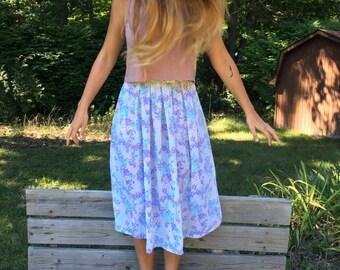 Pastel Floral Skirt