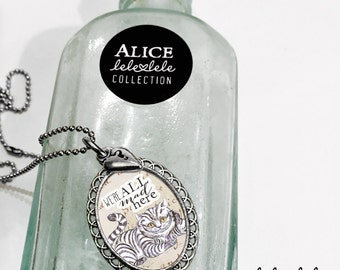 Necklace with Cheshire cat pendant  - Alice in Wonderland Collection