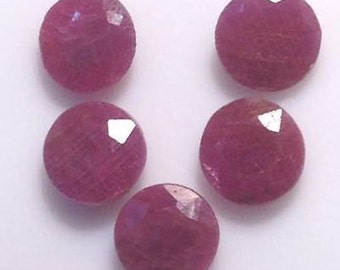 8mm Ruby Faceted Round Loose Gemstone 100% Natural Ruby Round Faceted Untreated & Unheated Ruby Gemstone 8mm Ruby Faceted Round