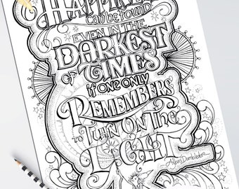 Adult Coloring Posters Detailed Set of 5 Gorgeous Designs on Quality Paper 11 x 17 Hand Drawn Printed One Side Wise Words Quotes