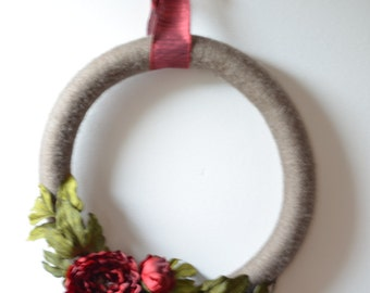 FALL Red Floral Wreath