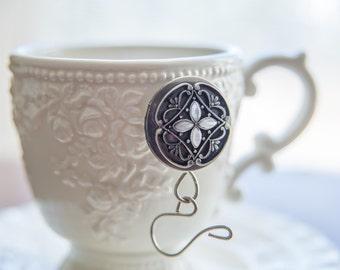Vintage Look Antique Nickel Locket Magnetic Portuguese Knitting Pin
