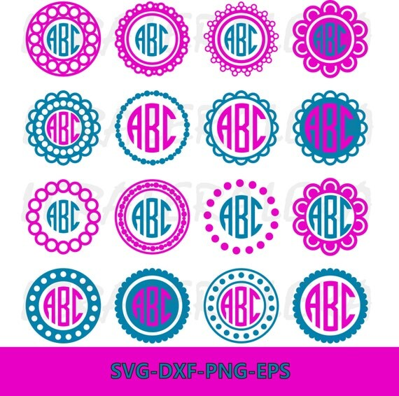 60 Off Circle Monogram Frames Svg Circle Monogram Svg
