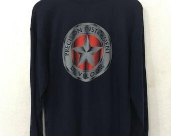 Vintage DEVILOCK JAPAN sweatshirts black colour pullover rare!!