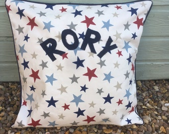 Personalised Piped Decorative Cushion