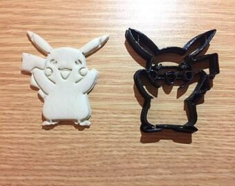 Pikachu Pokemon Cookie Cutter Fondant Cake Decorating Mold gum paste uk seller