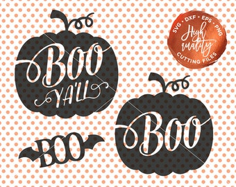 Halloween SVG, Boo Svg, Halloween Cut File, Boo Ya'll Cut File, Halloween Vector, Boo Ya'll SVG, Halloween Clipart, Halloween Boo svg design