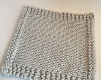 Light gray cotton Potholder